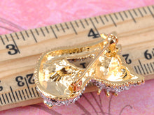 Load image into Gallery viewer, Elements Heart Gold Accent Nose Kitty Cat Pin Brooch
