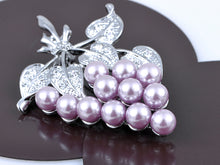 Load image into Gallery viewer, Pearl Bead Grapes Bunch Brooch Brooch