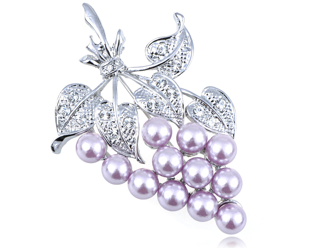 Pearl Bead Grapes Bunch Brooch Brooch