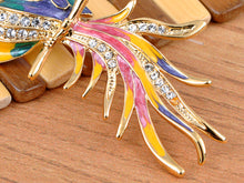 Load image into Gallery viewer, Multicolored Pearlescent Colorful Phoenix Bird Brooch Pin