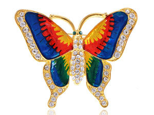 Colorful Butterfly Insect Brooch Pin
