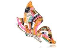 Load image into Gallery viewer, Elements Multi Coloured Beaded Ab Accent Butterfly Pin Brooch