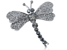 Load image into Gallery viewer, Grey Dragonfly Insect Wings Brooch Pin