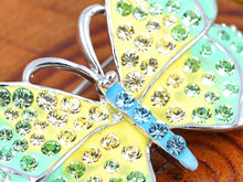 Load image into Gallery viewer, Elements Green Yellow Majestic Jewelry Butterfly Pin Brooch