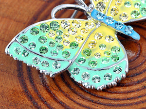 Elements Green Yellow Majestic Jewelry Butterfly Pin Brooch