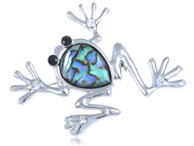 Load image into Gallery viewer, Czech Emerald Frog Jewelry Pin Brooch