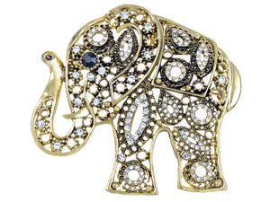 Antique African Indian Elephant Animal Pin Brooch
