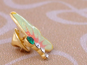 Mini Enamel Glitter Painted Winged Butterfly Pin Brooch