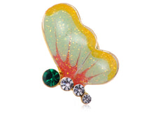 Load image into Gallery viewer, Mini Enamel Glitter Painted Winged Butterfly Pin Brooch