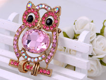 Load image into Gallery viewer, Pink Body Cartoon Owl Bird Pin Brooch