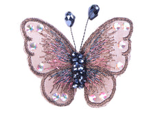 Load image into Gallery viewer, Embroidered Winged Monarch Butterfly Jewelry Brooch Pin