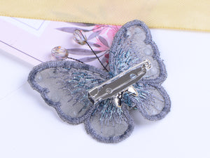 Embroidered Winged Monarch Butterfly Jewelry Brooch Pin