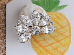 Diamond Floral Wedding Bridal Bouquet Brooch Pin