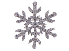 Load image into Gallery viewer, Studded Snowflake Casual Novelty Holiday Pin Brooch