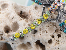 Load image into Gallery viewer, Colorful Yellow Blue Dragonfly Brooch Scarf Decoration Pin