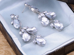 Cluster Drop Diamond Earrings