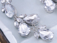 Load image into Gallery viewer, Cluster Drop Diamond Earrings