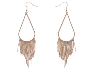 Tribal Teardrop Shape Feather Like Dangling Earrings