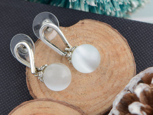 White Opal Classic Drop Earrings