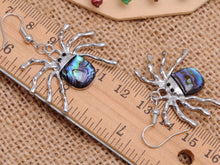 Load image into Gallery viewer, Majestic Black Spooky Spider Dangle Earrings