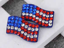 Load image into Gallery viewer, Patriotic USA American Flag 4th Of July Red White And Blue Stud Earrings