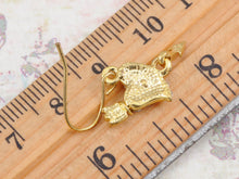 Load image into Gallery viewer, Cupid Arrow Through Heart Gold Real Drop Earrings
