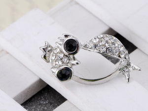 Penguin King Bird Owl Crown Stud Earrings
