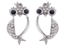 Load image into Gallery viewer, Penguin King Bird Owl Crown Stud Earrings
