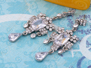 Antique Victorian Design Ice Dangle Chandelier Earrings
