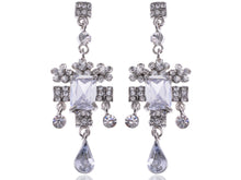 Load image into Gallery viewer, Antique Victorian Design Ice Dangle Chandelier Earrings