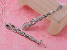 Load image into Gallery viewer, Infinity Braid Twist Clr Dangle Drop Evening Cocktail Earrings