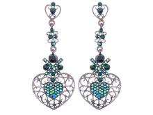Load image into Gallery viewer, Elements Topax And Aurora Borealis Butterfly Accent Earrings