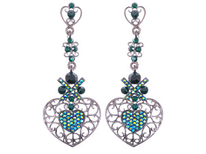 Elements Topax And Aurora Borealis Butterfly Accent Earrings