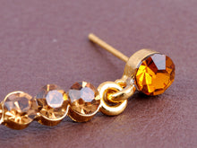 Load image into Gallery viewer, Topaz Yellow Heart Shape Dangle Cluster Dangle Drop Earrings