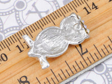 Load image into Gallery viewer, Aurore Boreale Skinny Perched Owl Bird Stud Earrings