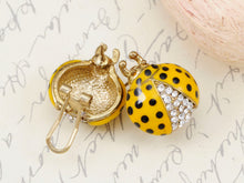 Load image into Gallery viewer, Fun Big Rounded Painted Ladybug Insect Stud Earrings