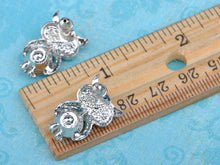 Load image into Gallery viewer, Turquoise Blue Colored Owl Bird Stud Earrings