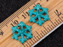 Load image into Gallery viewer, Zircon Snowflake Ice Freezing Cold Element Earrings