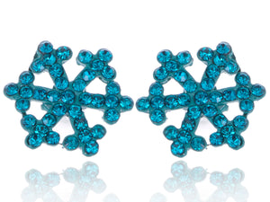 Zircon Snowflake Ice Freezing Cold Element Earrings