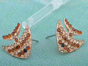 Copper Colored Swimming Striped Angel Fish Element Earrings