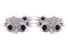 Load image into Gallery viewer, Color Furry Hair Owl Bird Masquerade Element Earrings