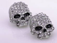 Load image into Gallery viewer, Scaled Threatening Scary Skull Element Earrings
