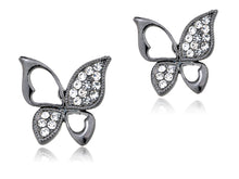 Load image into Gallery viewer, Colored Asymmetrical Cut Out Butterfly Element Earrings