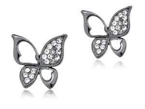 Colored Asymmetrical Cut Out Butterfly Element Earrings