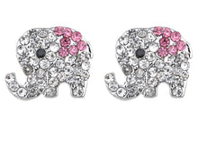 Load image into Gallery viewer, Colored Elephant Stud Earrings