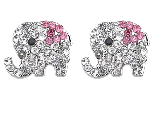 Colored Elephant Stud Earrings