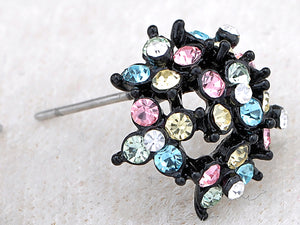 Multicoloured Cluster Hive Explosion Burst Element Earrings