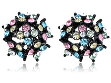 Load image into Gallery viewer, Multicoloured Cluster Hive Explosion Burst Element Earrings