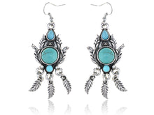 Load image into Gallery viewer, Petite Elements Peacock Plumage Post Earrings
