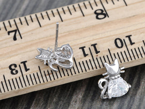 Colored Super Happy Kitten Charm Element Earrings